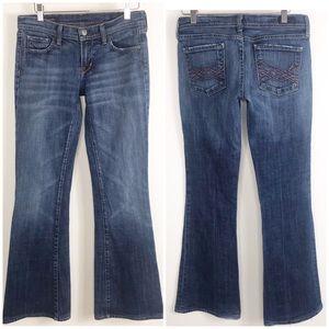 COH Naomi stretch low waist flair hemmed jeans 28